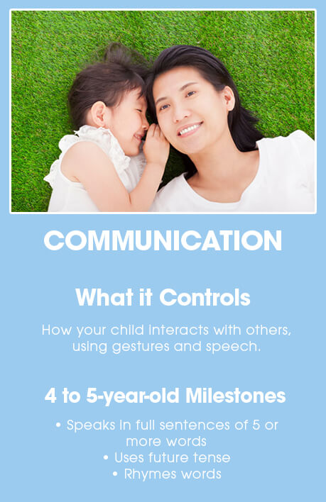 4-5 year old brain development: COMMUNICATION