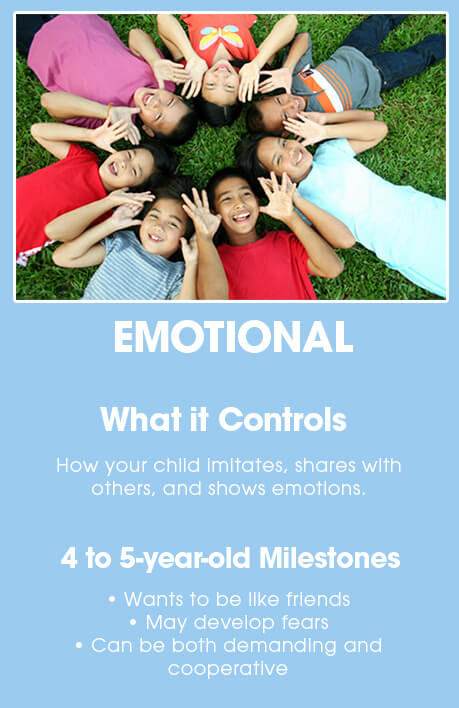 4-5 year old brain development: EMOTIONAL